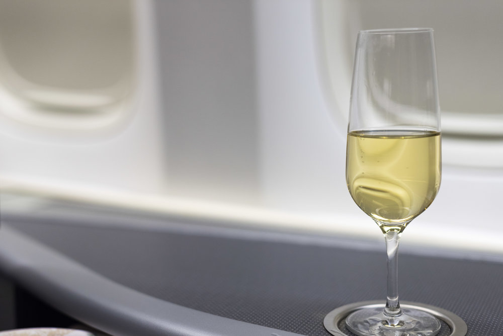 Veuve Clicquot La Grande Dame 2006 Champagne  EVA Air Royal Laurel 777-300ER - SIN to TPE (BR226)