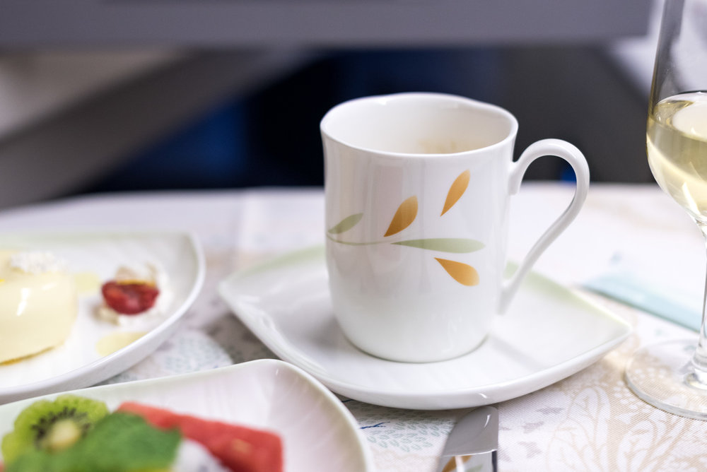 Double (illy) Espresso - Lunch Service  EVA Air Royal Laurel 777-300ER - SIN to TPE (BR226)