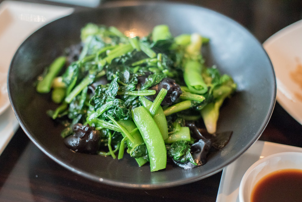 Wok-fried Seasonal Vegetables (NT$ 480+)  YEN Chinese Restaurant - W Taipei