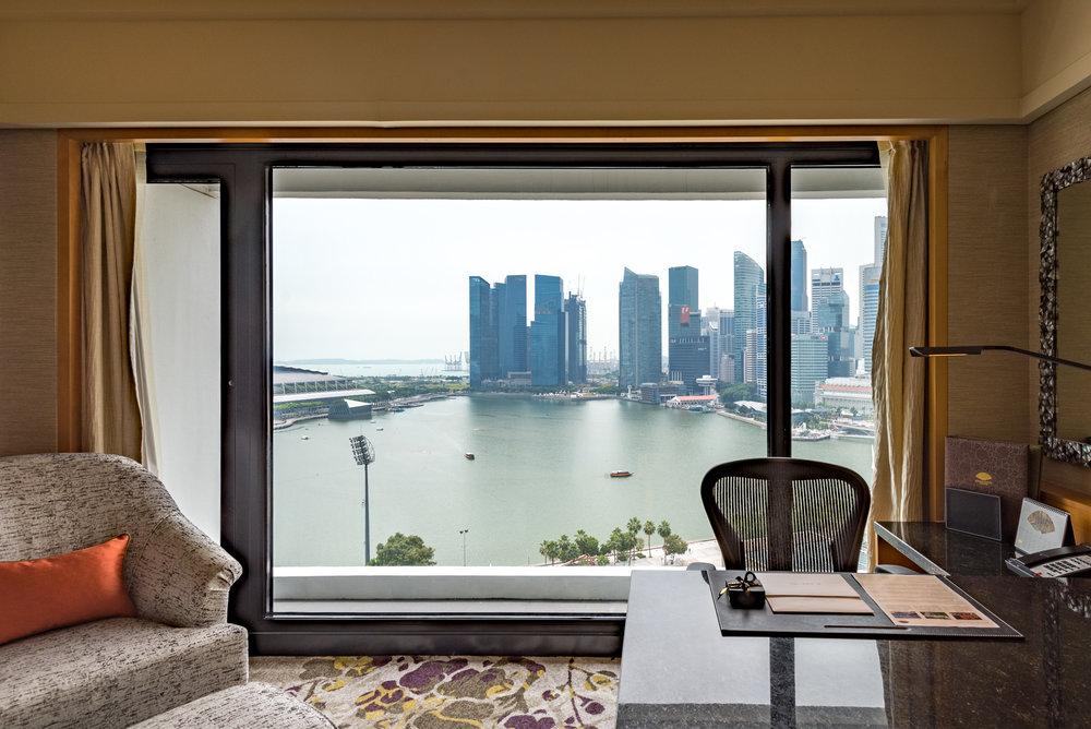 View from the Bedroom Club Marina Bay Room - Mandarin Oriental, Singapore