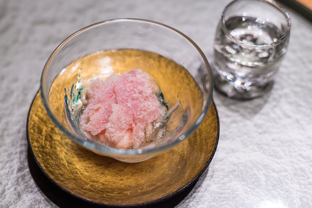 Snapper with Kelp, Crab and Radish ibuki by Takagi Kazuo - Shangri-La's Far Eastern Plaza Hotel, Taipei