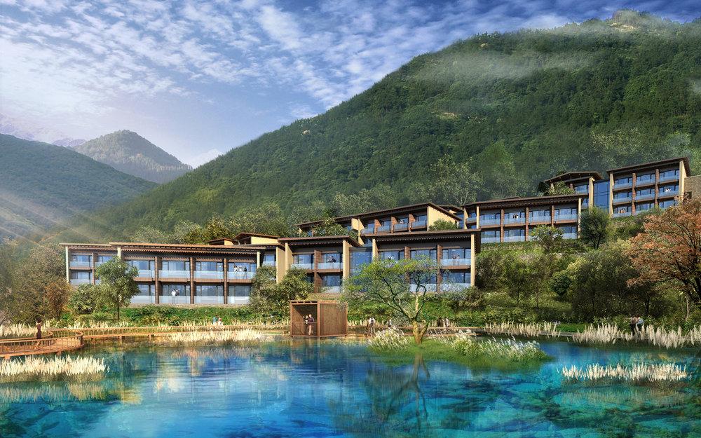 Resort Exterior | Photo Credit: Hilton Jiuzhaigou