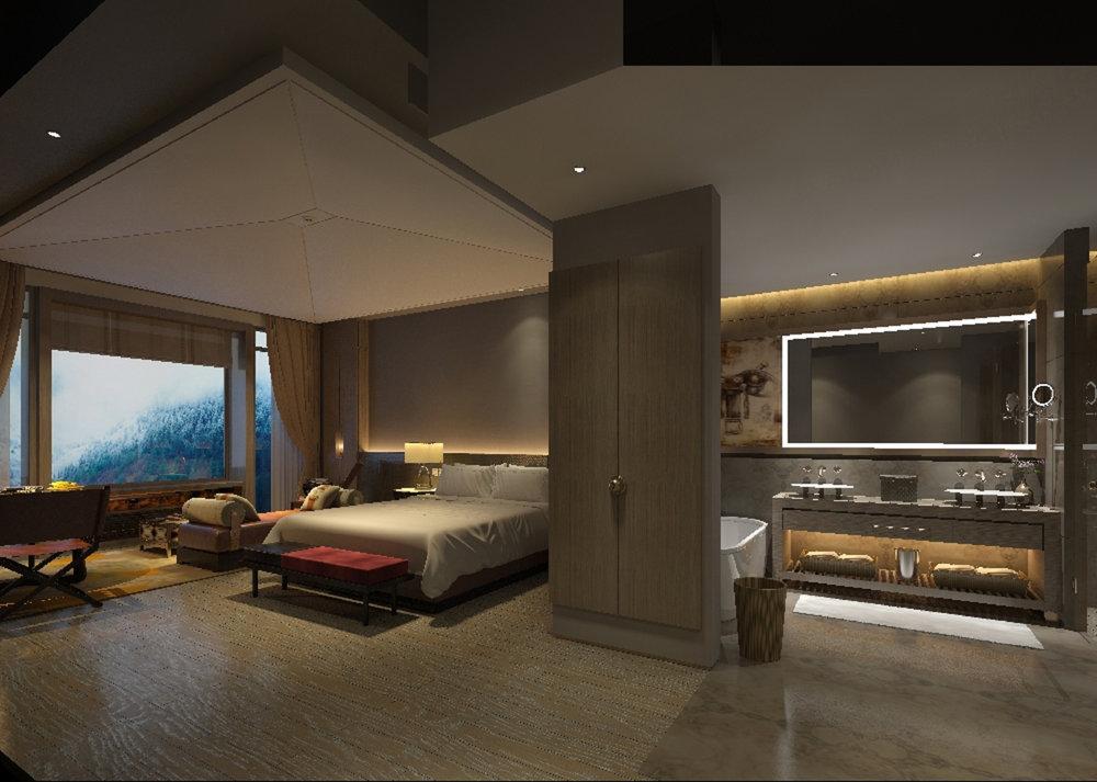 Guest Room | Photo Credit: Hilton Jiuzhaigou Resort