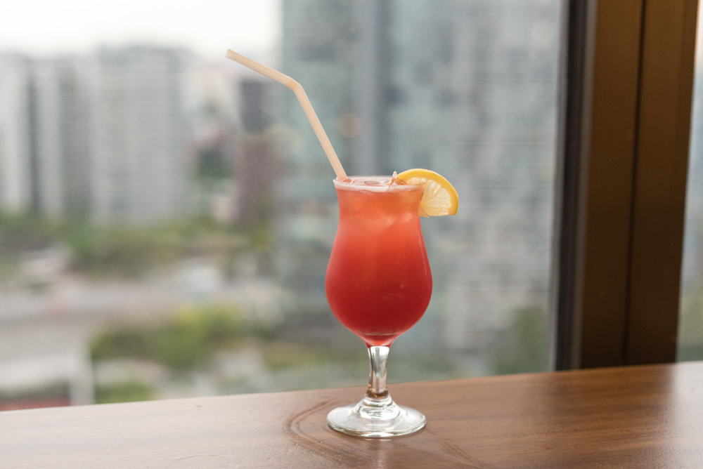 Singapore Sling  Executive Lounge - Singapore Marriott Tang Plaza Hotel