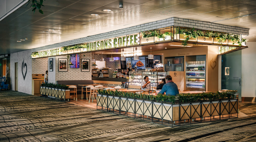 Hudsons Coffee - Changi Airport | Photo Credit: Emirates Leisure Retail