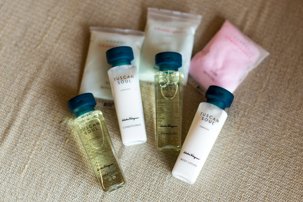 Bath Amenities from Salvatore Ferragamo Grand Suite - Grand Hyatt Taipei
