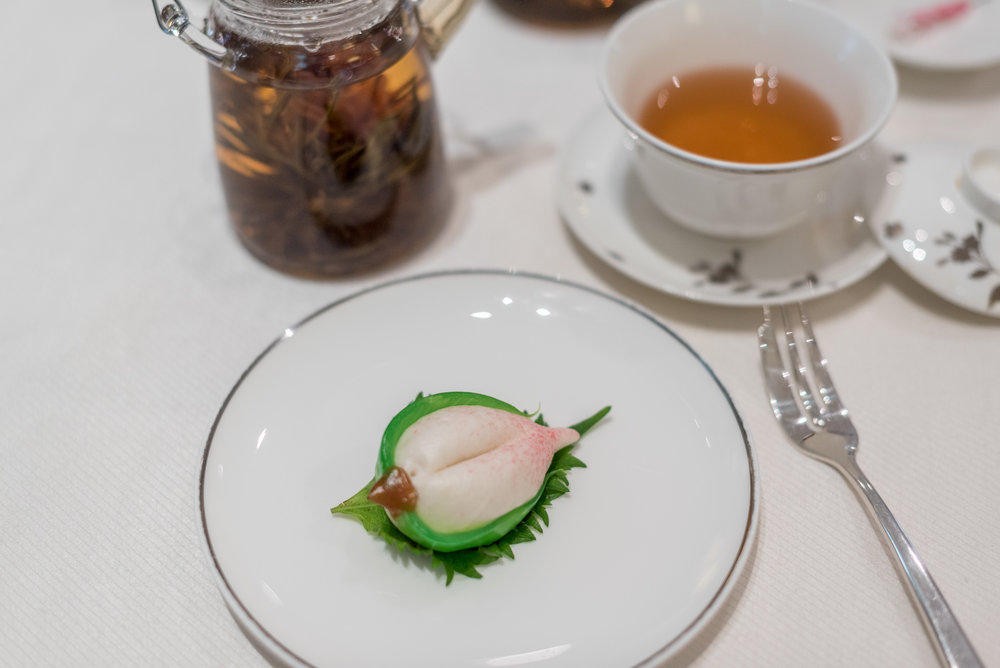 Longevity Buns (寿桃)  Weekend Dim Sum Afternoon Tea at Cassia - Capella Singapore
