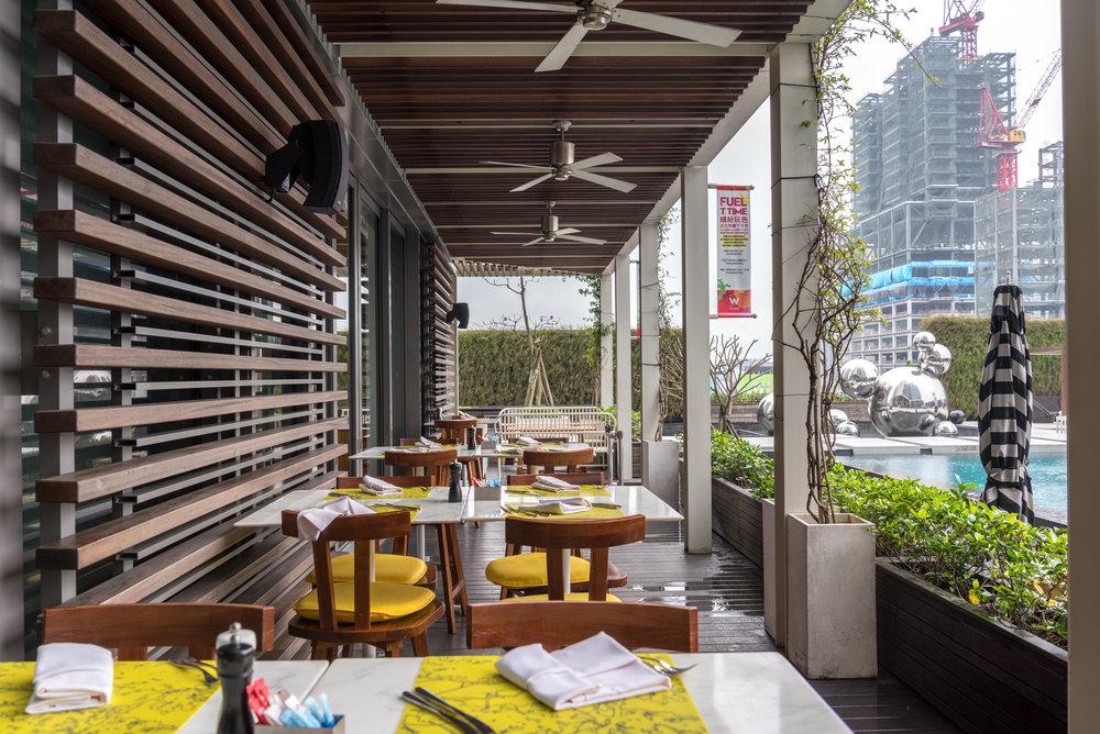Alfresco Dining Area  the kitchen table - W Taipei