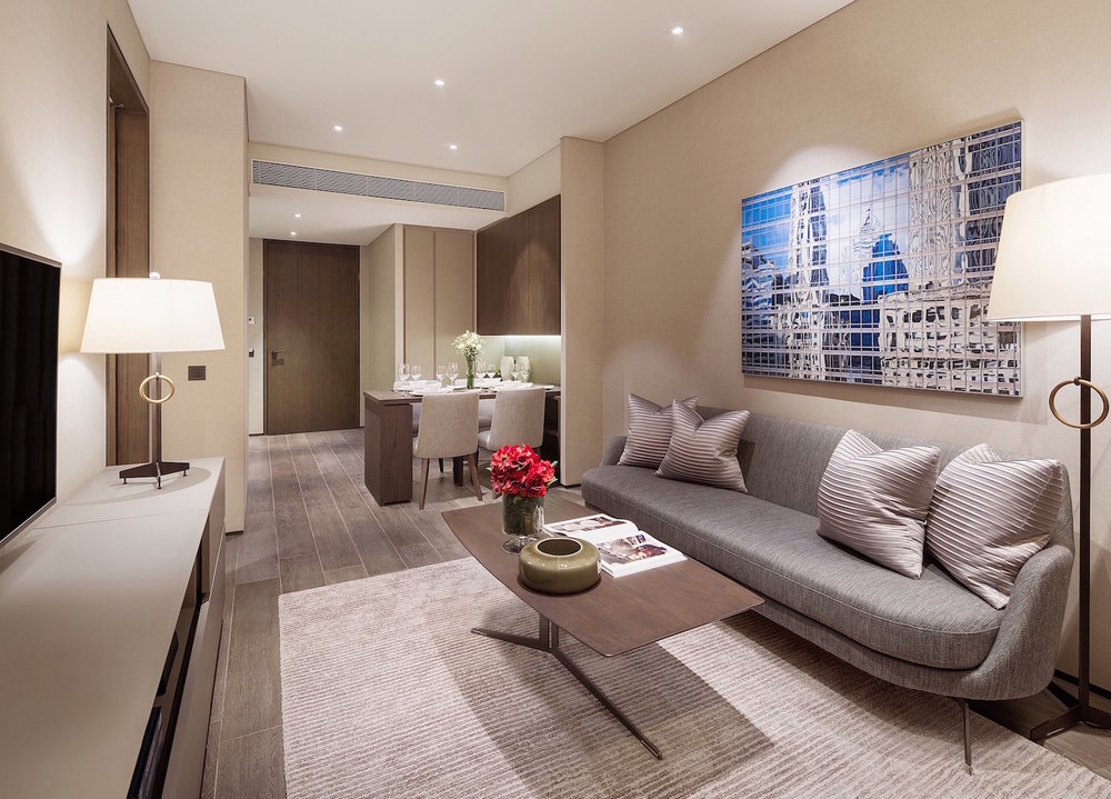 One-bedroom Apartment | Photo Credit: Oakwood Premier OUE Singapore