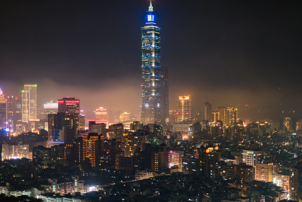 View of Taipei 101 at Night  Horizon Club Premier Room - Shangri-La's Far Eastern Plaza Hotel, Taipei