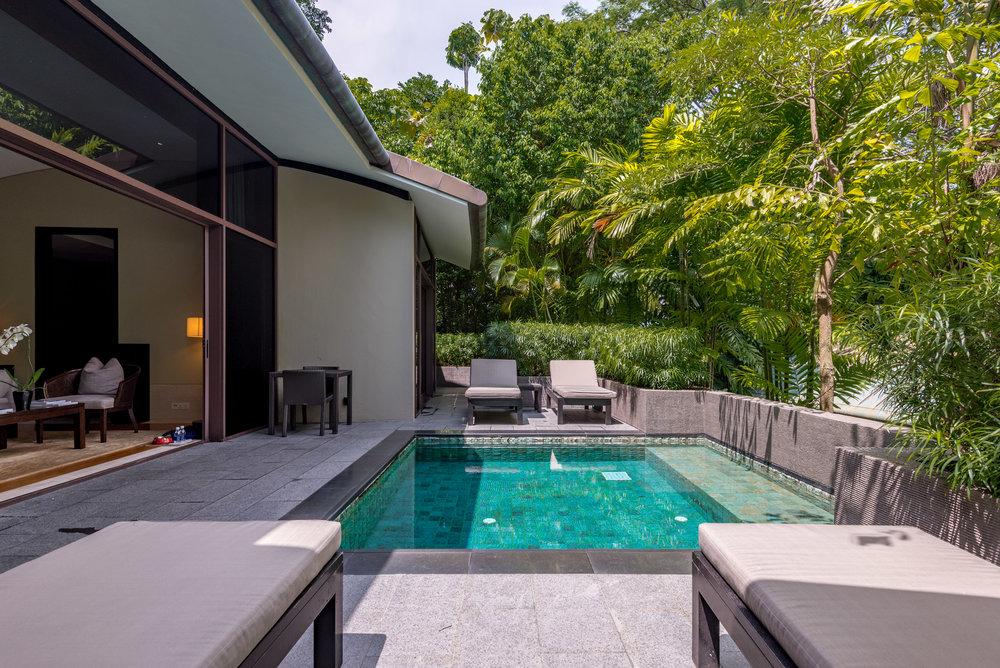 Private Plunge Pool  Two-Bedroom Garden Villa - Capella Singapore