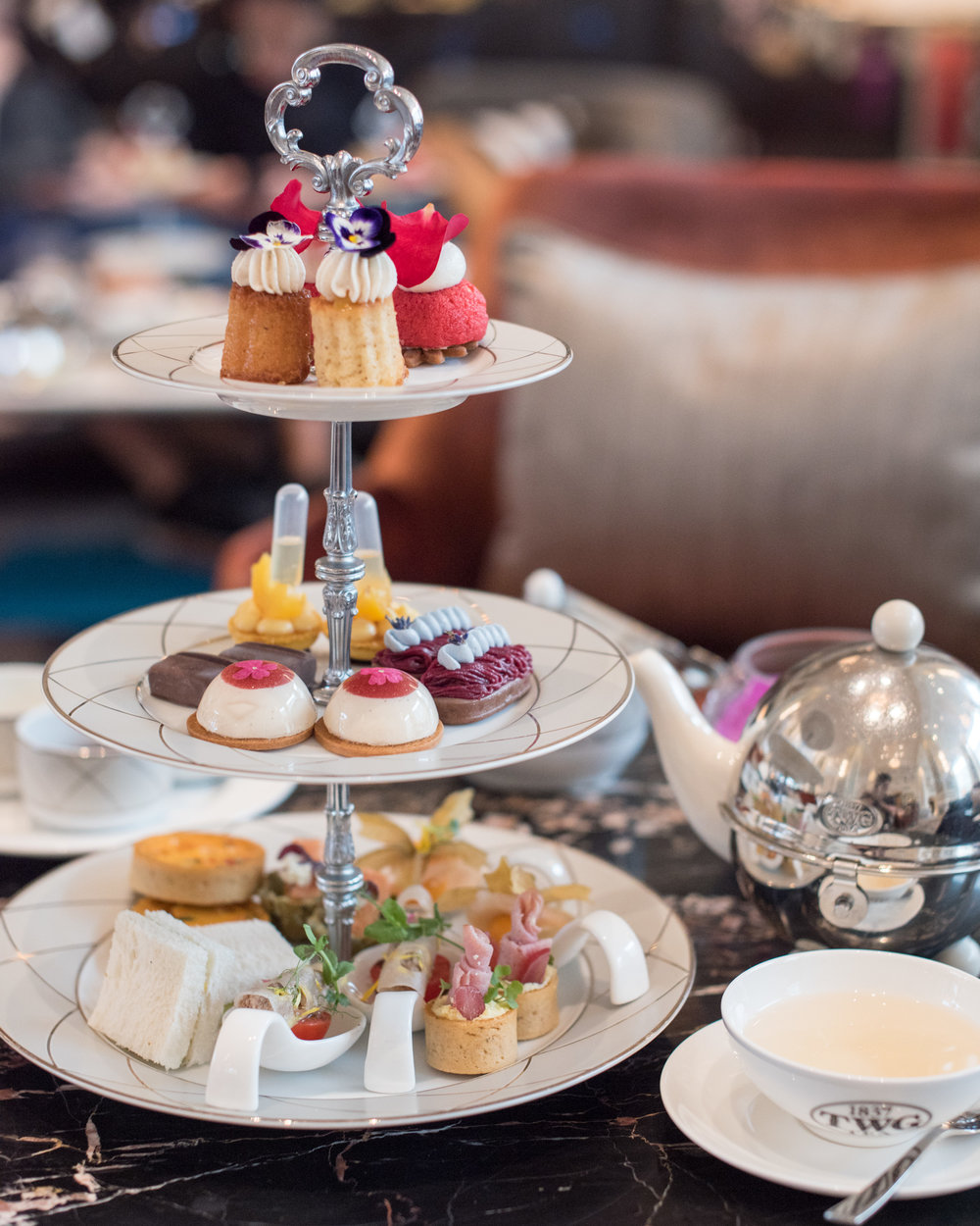Afternoon Tea: Au Jardin (S$78++ for Two)  The Lobby Lounge - InterContinental Singapore