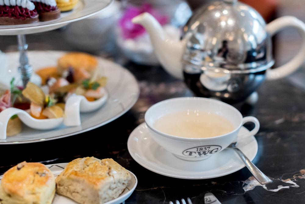 'Bai Mu Dan' (White Peony)Tea  The Lobby Lounge - InterContinental Singapore