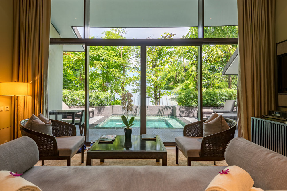 Living Room  Two-Bedroom Garden Villa - Capella Singapore