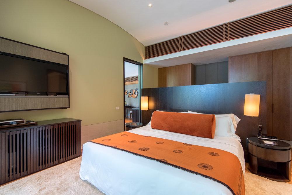 Master Bedroom  Two-Bedroom Garden Villa - Capella Singapore
