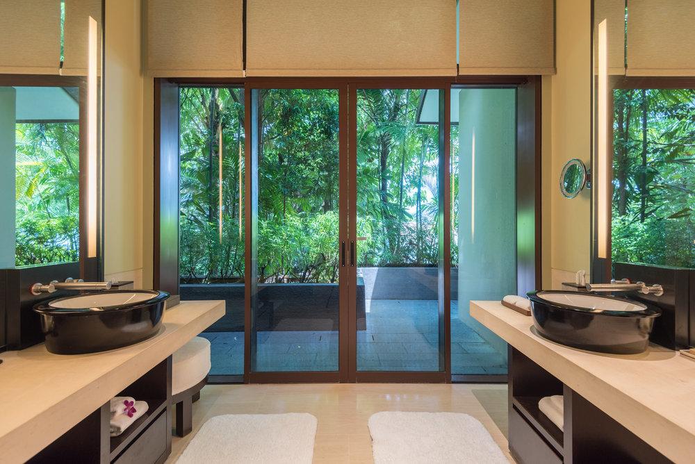 Bathroom - Master Bedroom  Two-Bedroom Garden Villa - Capella Singapore