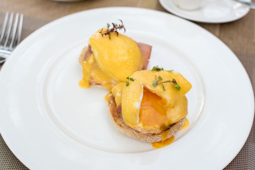 Eggs Benedict - Buffet Breakfast   The Knolls - Capella Singapore