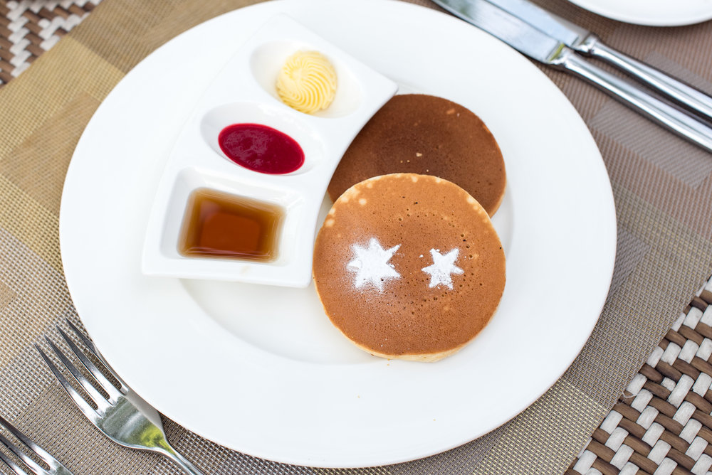Pancakes - Buffet Breakfast   The Knolls - Capella Singapore