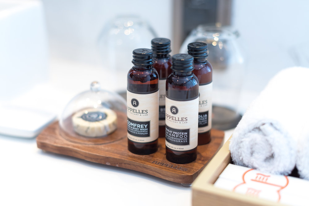 Bath Amenities from APPELLES Apothecary & Lab  Premier Suite - G Hotel Kelawai