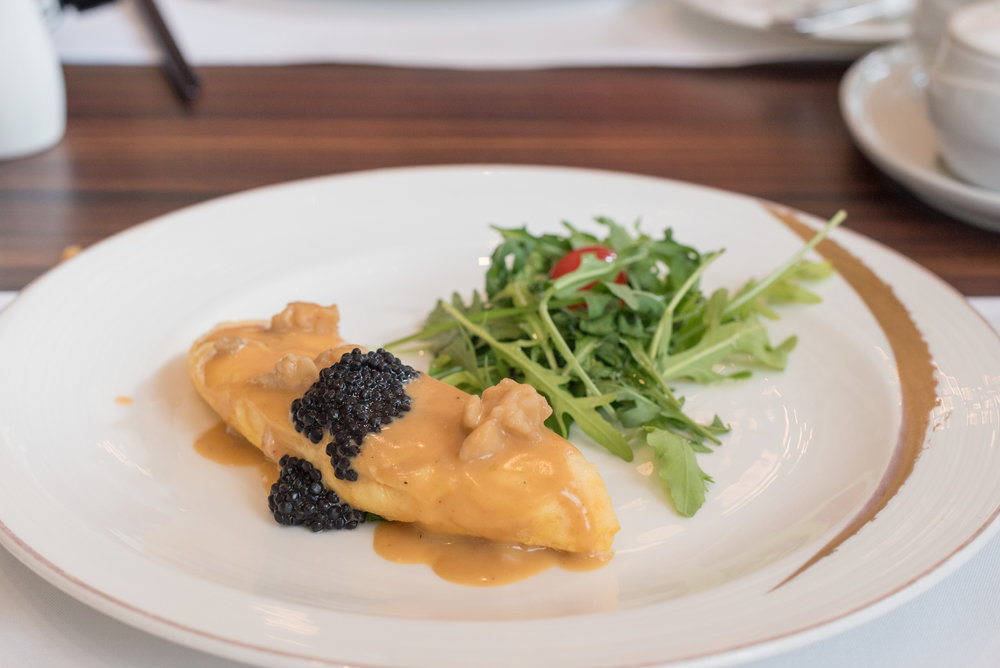 Unlimited Lobster Omelette with Caviar  The St. Regis Singapore