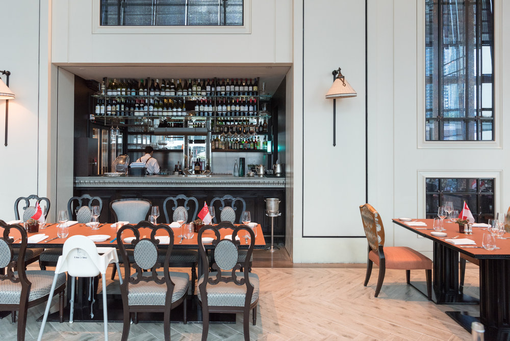 Newly Refurbished Interiors  La Brasserie - The Fullerton Bay Hotel Singapore