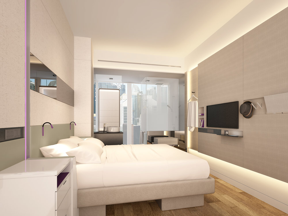 Guest Room | Photo Credit: YOTEL Singapore