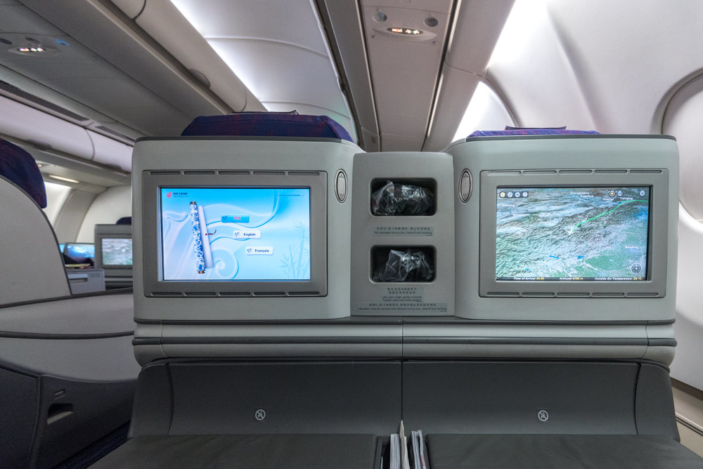 In-flight Entertainment Systems  Air China CA969 Business - PEK to SIN
