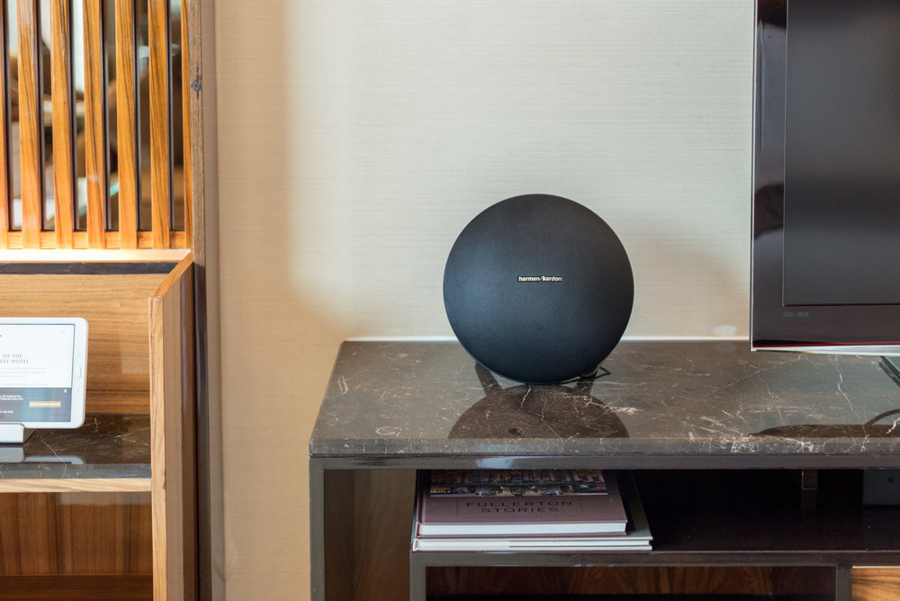 Harman Kardon Speaker Premier Bay View Room - The Fullerton Bay Hotel Singapore