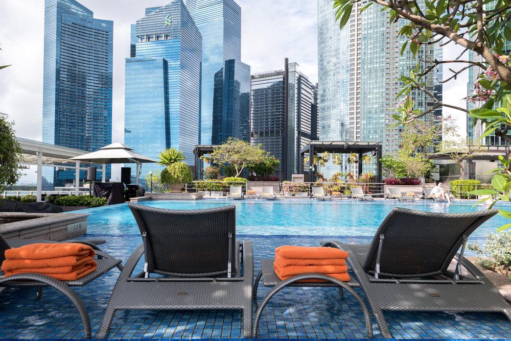 Swimming Pool  The Fullerton Bay Hotel Singapore