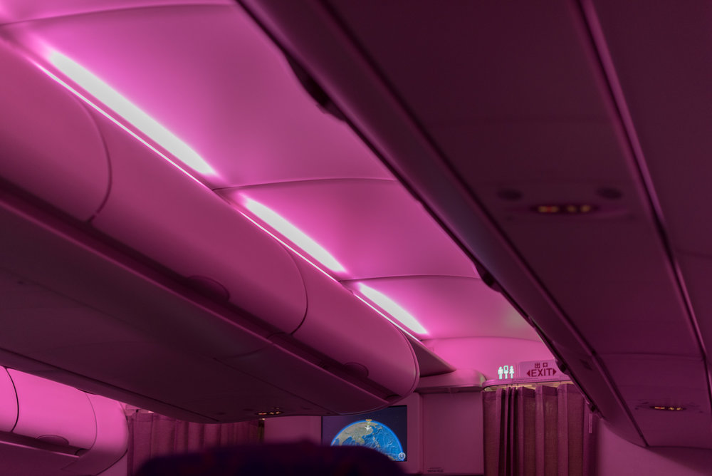 Mood Light in Business Cabin  Air China CA969 Business - PEK to SIN
