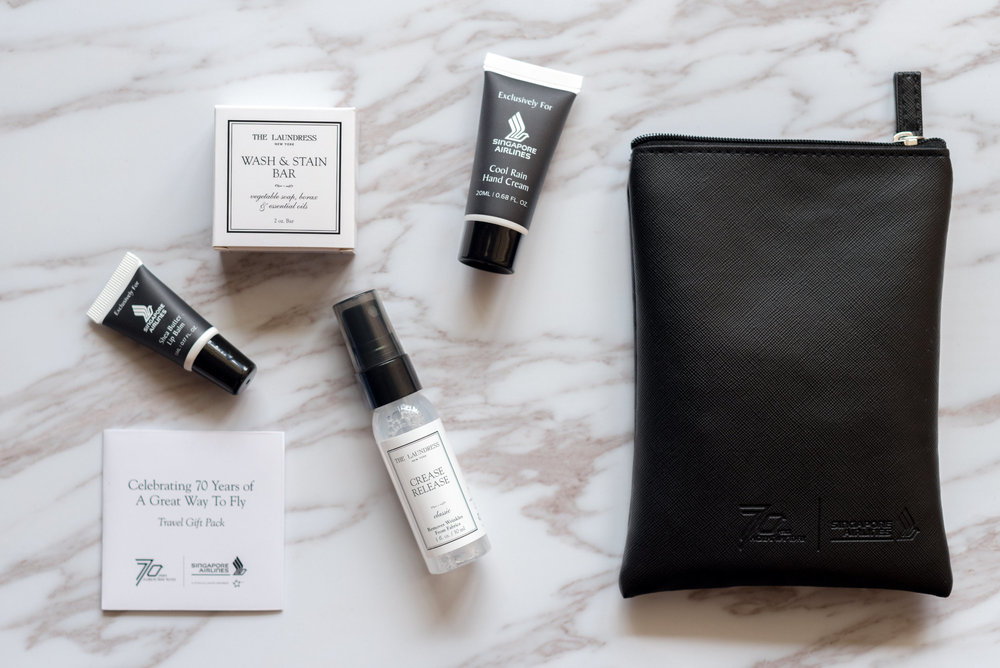 Black Version  Singapore Airlines' 70th Anniversary Amenity Kits