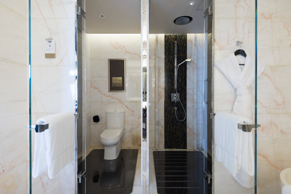 Toilet and Shower  Deluxe Room - The St. Regis Shenzhen