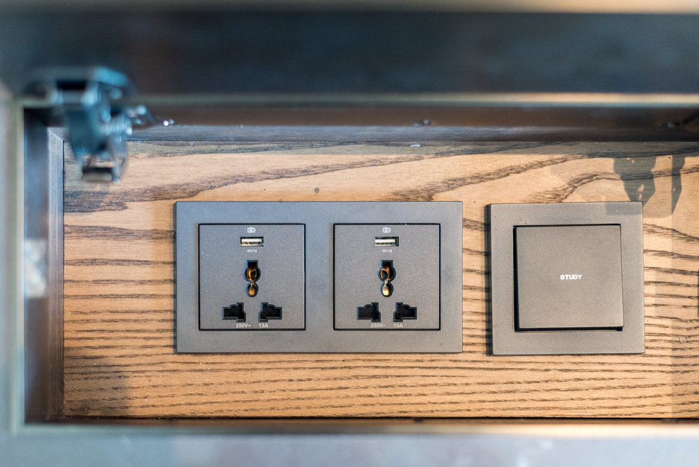 Universal Power Sockets and USB Charging Deluxe Room (Refurbished) - Conrad Centennial Singapore