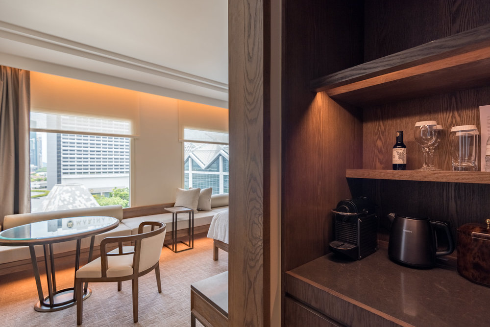 Nespresso and Minibar Area Deluxe Room (Refurbished) - Conrad Centennial Singapore