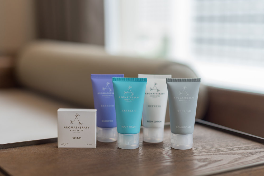 Bath Amenities by Aromatherapy Associates  Deluxe Room (Refurbished) - Conrad Centennial Singapore