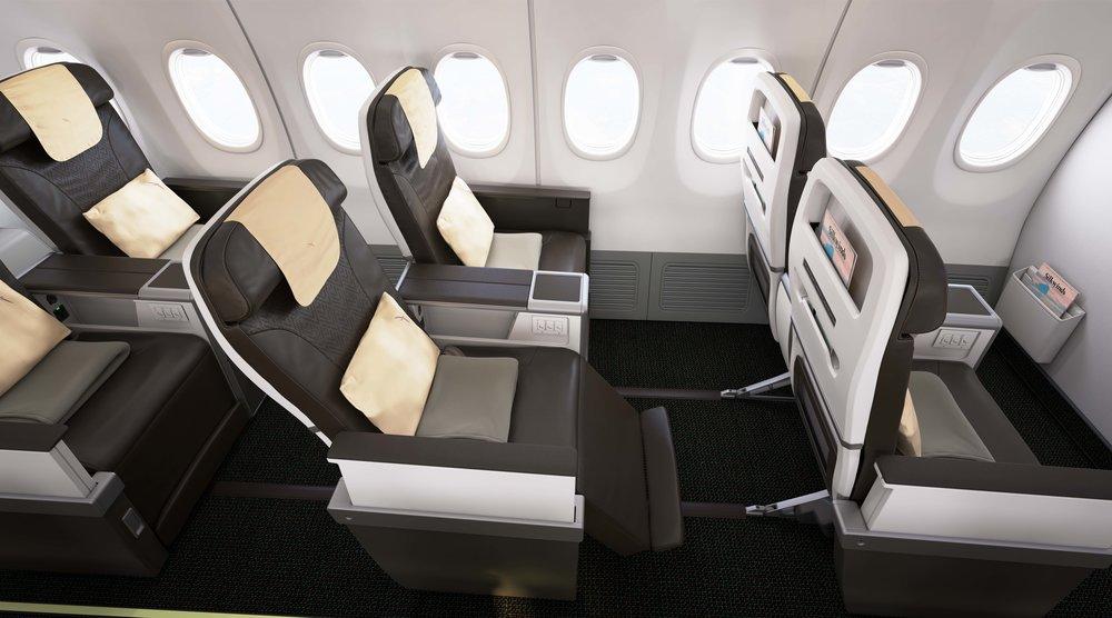 Business Class on Boeing 737 MAX 8 | Photo Credit: SilkAir