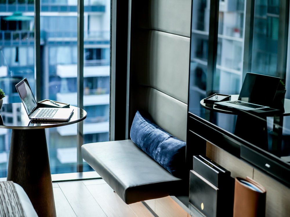 Seating Alcove by the Window | Photo Credit: InterContinental Singapore Robertson Quay