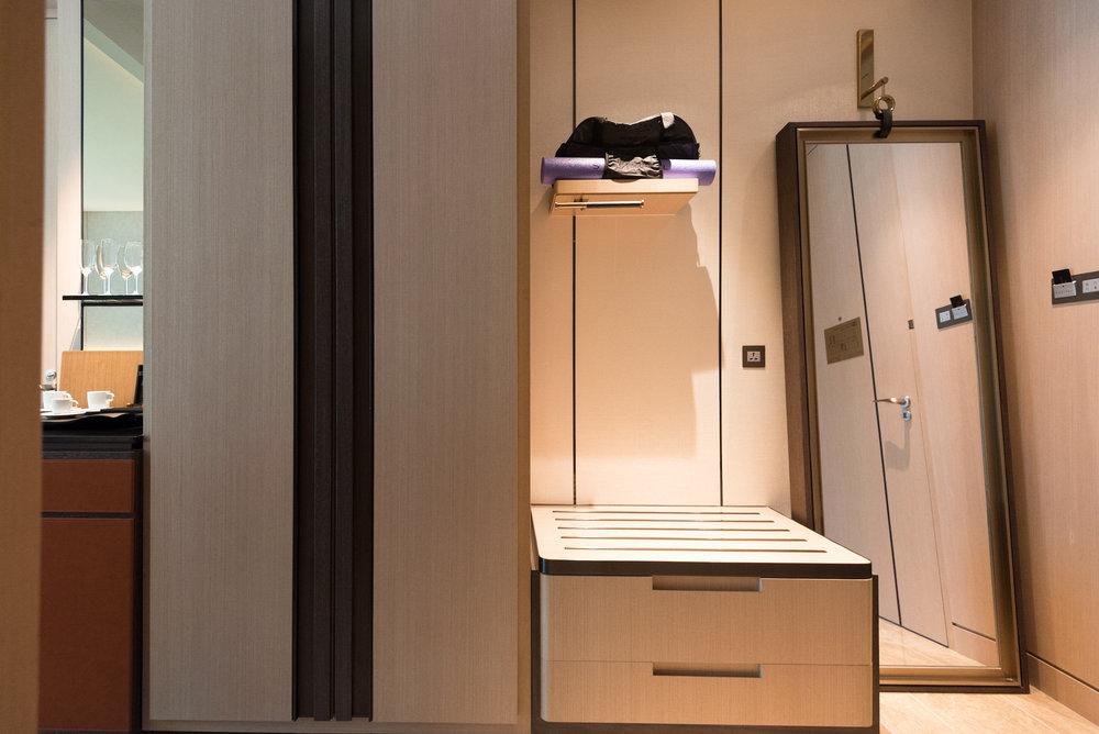 Wardrobe and Mirror  Luxury Room - Sofitel Singapore City Centre