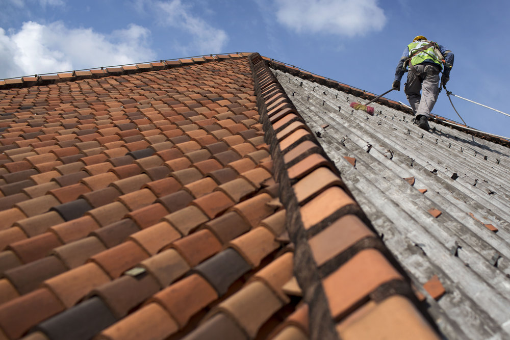 Retiling of Roof   Photo Credit: Raffles Singapore