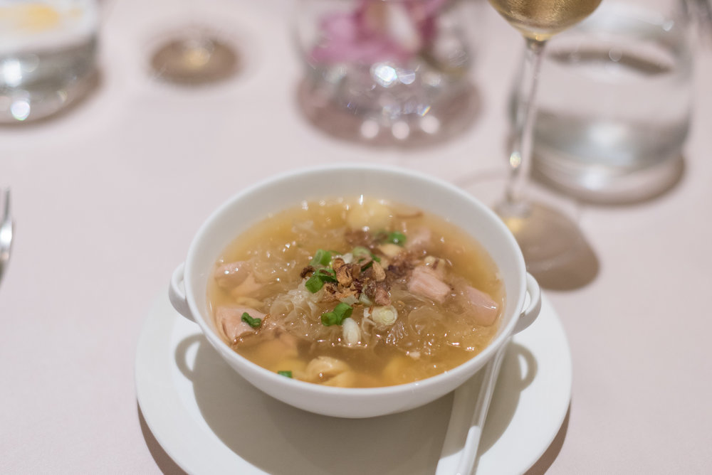 Oriental Soup - Braised Chicken Soup with Snow Fungus, Lotus Seed and Red Date The Private Room (SilverKris Lounge) - Terminal 3, Changi Airport