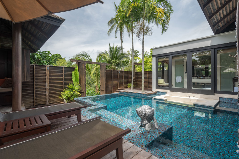 Private Pool and Sundeck  Lagoon Pool Villa - Anantara Mai Khao Phuket Villas
