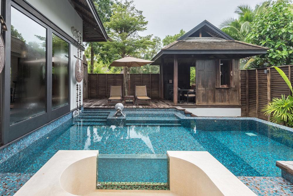 Outdoor Terrazzo Tub  Lagoon Pool Villa -Anantara Mai Khao Phuket Villas