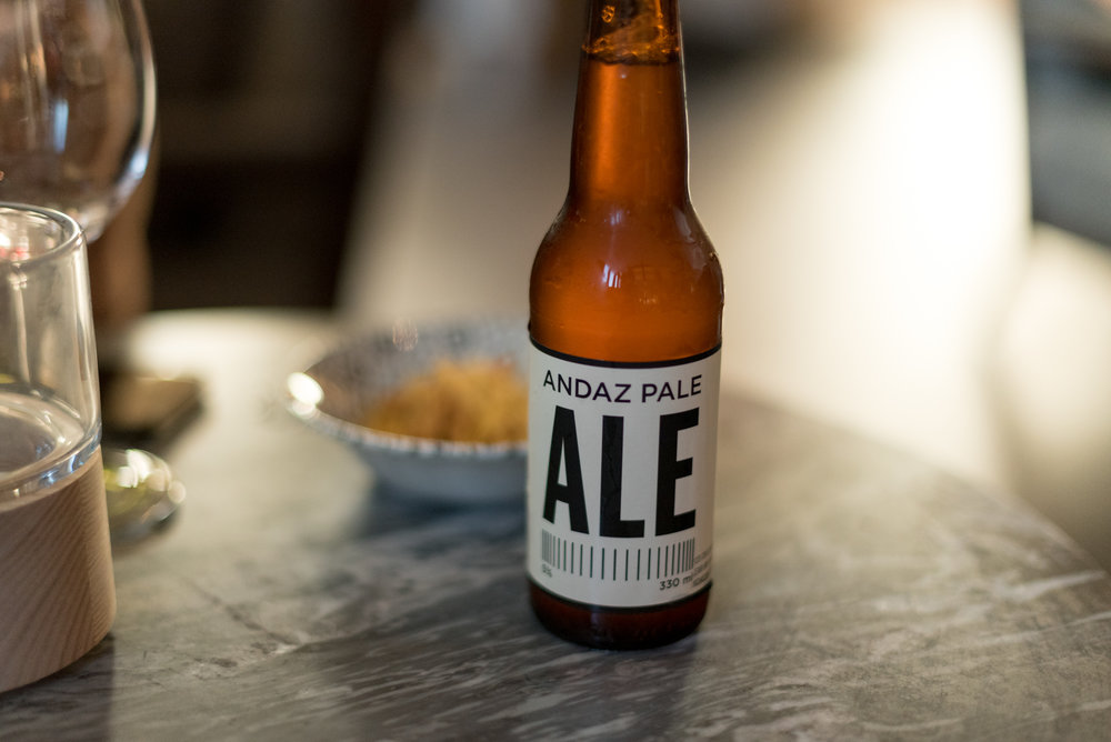 Andaz Pale Ale at the Sunroom  Andaz Singapore