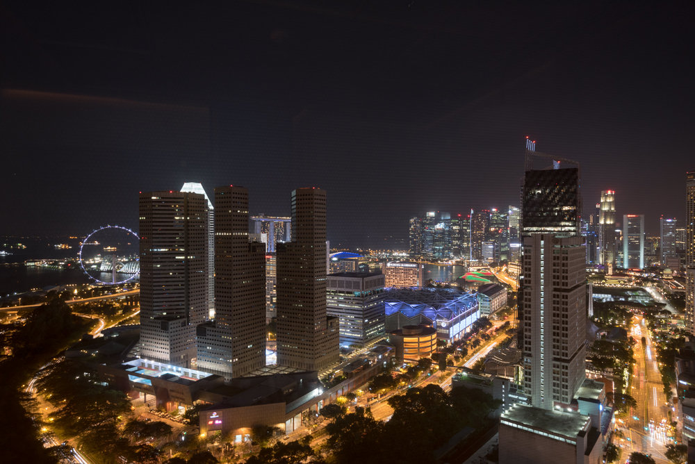 Night View from Living Room  Andaz Suite King - Andaz Singapore