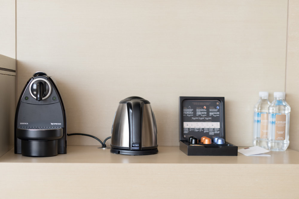 Nespresso Machine and Electric Kettle  Executive Suite - Conrad Beijing