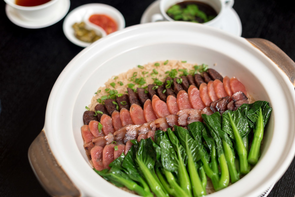 Steamed Fragrant Rice with Chef's Selection of Waxed Meats and Bok Choy  Racines - Sofitel Singapore City Centre