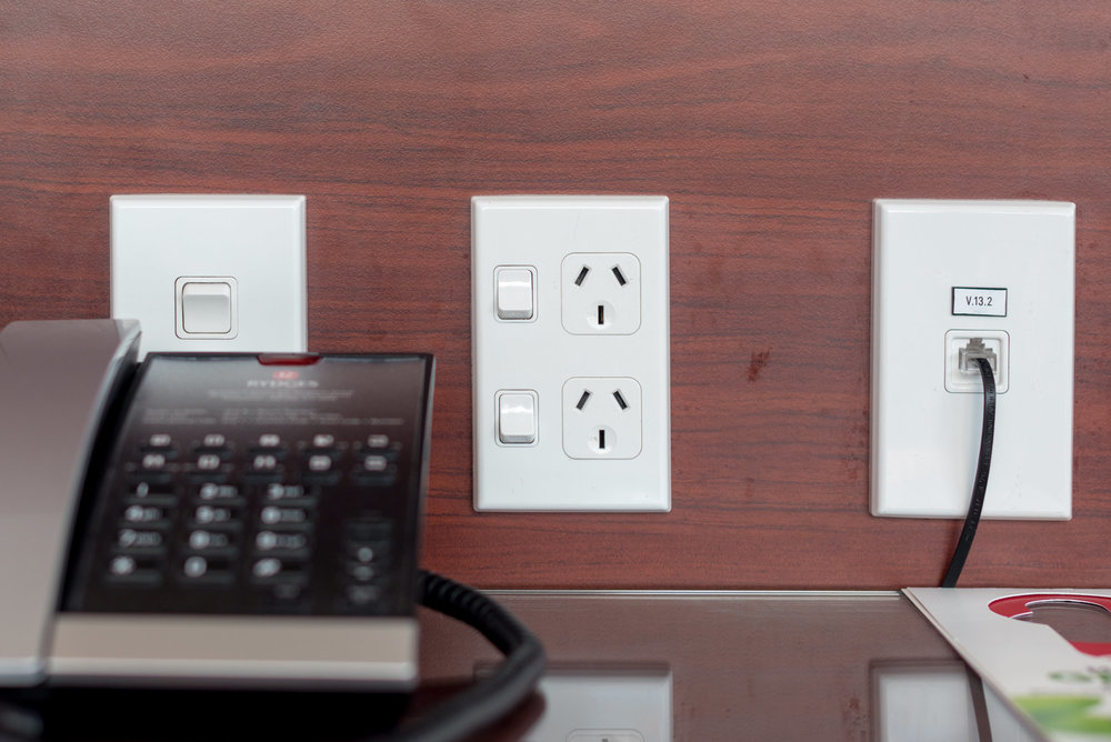 Power Outlets by the Bed  King Residence Suite - Rydges Auckland