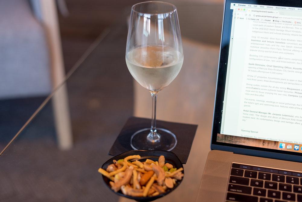 White Wine  Bellini Bar -Hilton Auckland