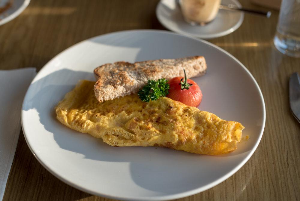 Salmon Omelette - Breakfast  FISH Restaurant -Hilton Auckland