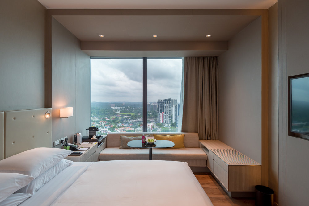 Bedroom  Premier Skyline Room - Courtyard by Marriott Singapore Novena